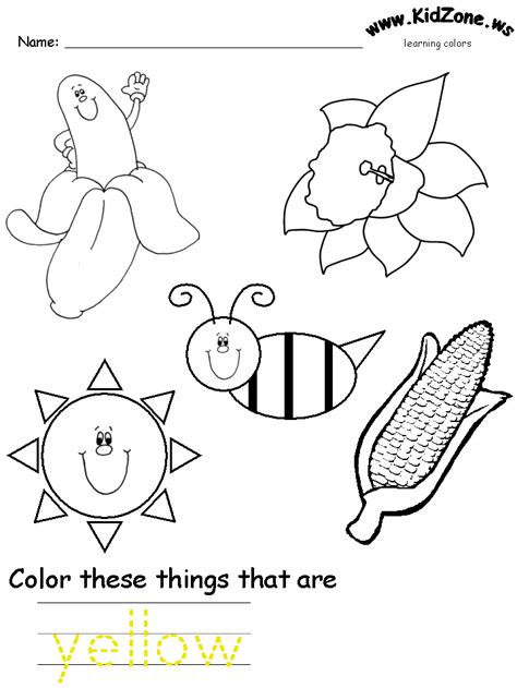 coloring pages colors preschool color yellow coloring pages az coloring pages