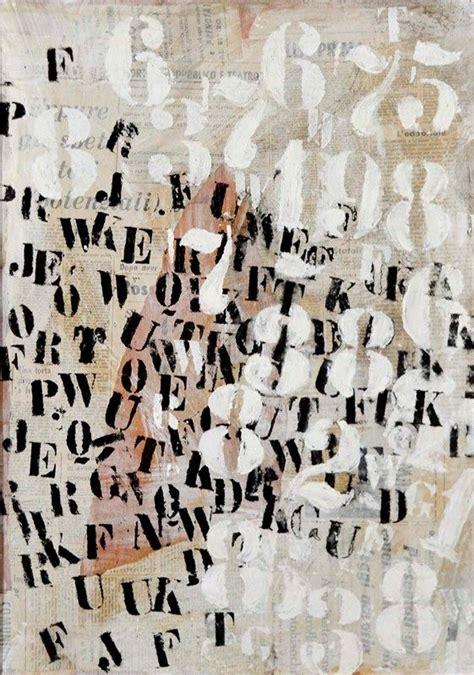 lettere e numeri raoul schultz lettere e numeri tecnica mista e collage