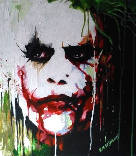 joker painting by sullen skrewt pixel