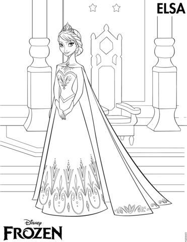 elsa coronation coloring pages elsa coronation coloring page free printable coloring pages