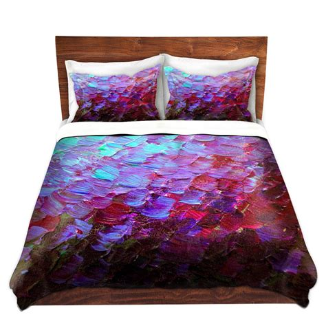 mermaid bed mermaid scales deep purple art duvet covers queen twin plum