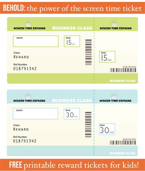 printable reward ticket template train ticket template for kids www pixshark com images