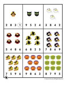 halloween number recognition counting worksheet woo