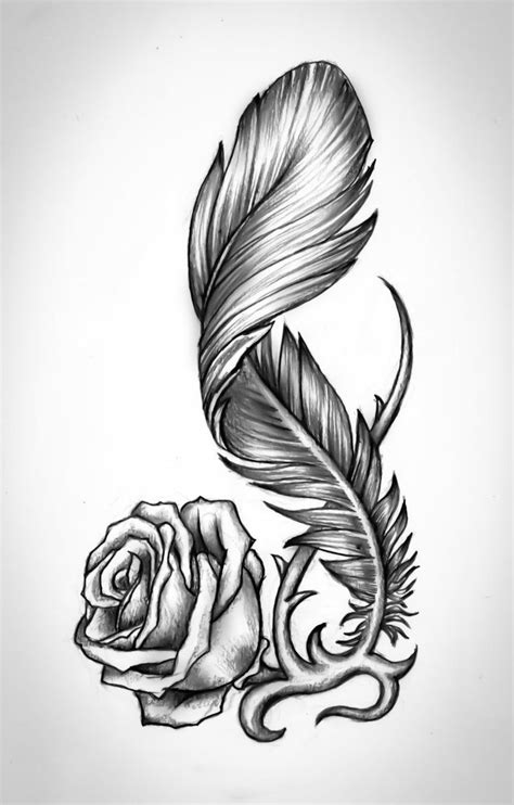 rose feather tattoo best 25 feather meaning ideas on