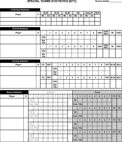 football score sheet printable football score sheets in pdf