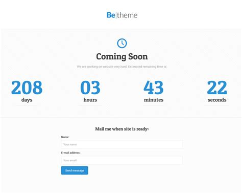 maintenance mode html template maintenance mode blank page betheme best
