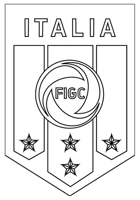 Coloriage Logo De L 233 Quipe D Italie De Football