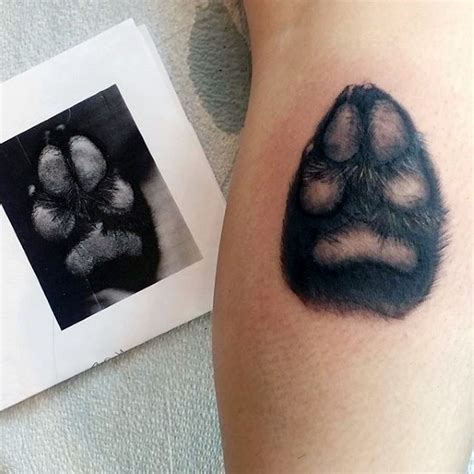 small shaded tattoos 70 paw designs for canine print ink ideas
