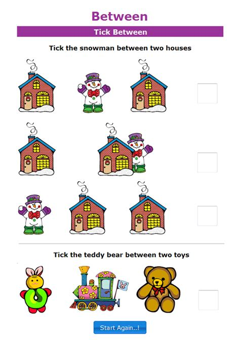 Lots Of Fun Meaning Math Positional Words Worksheets For Kindergarten