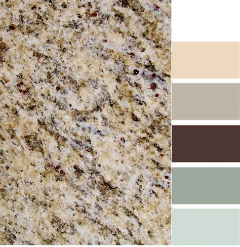 santa cecilia granite with color scheme it