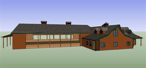 barn and house combo house barn combo horse barn structural considerations