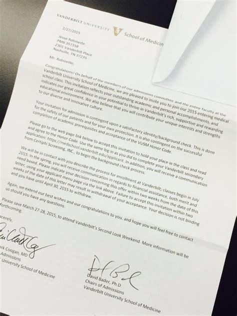 Vanderbilt Acceptance Letter Photo Vanderbilt Football Proudly Tweets Qb Patton Robinette S Acceptance Letter To School
