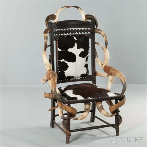 cowhide upholstered chairs cowhide upholstered carved walnut and horn chair sale