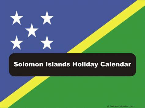 Solomon Islands Calend 2018 Solomon Islands 2018 2019 Calendar