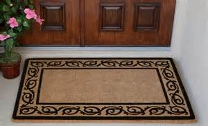 coir doormat florentine border luxury coir door mat