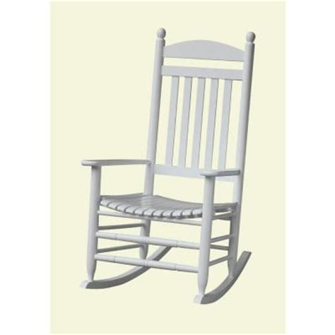 White Rocking Chair Outdoor by Bradley White Slat Patio Rocking Chair 200sw Rta The