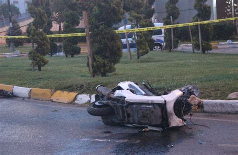 yasindaki cocugun kullandigi motosiklet kaza yapti