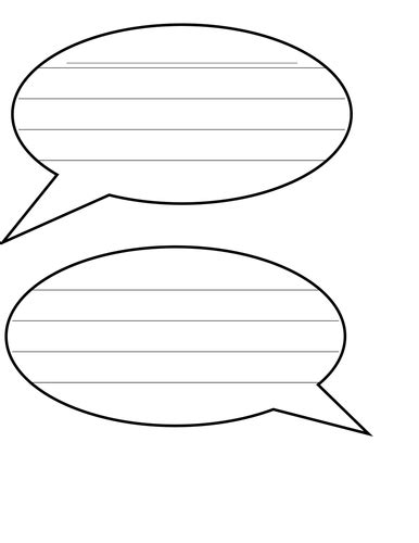 Speech Bubbles Template by Speech Bubbles With Lines For Writing By H4nn4hww Uk