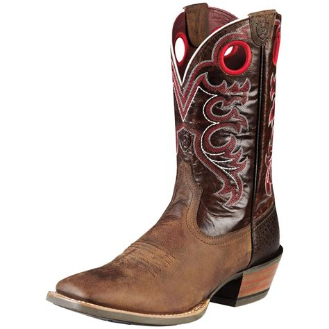mens brown cowboy boots s ariat 174 11 quot crossfire cowboy boots brown 282378