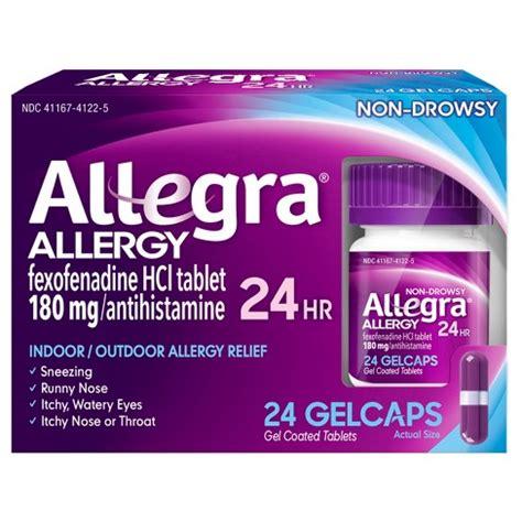 Allegra Gel By Allegra allegra 174 24 hour allergy relief gel caps fexofenadine