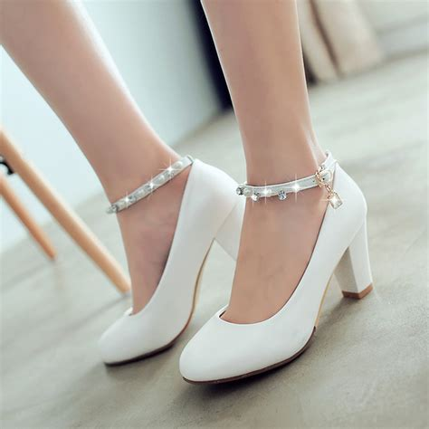 small size high heel shoes 2017 new word buckle high heels shoes small size 32