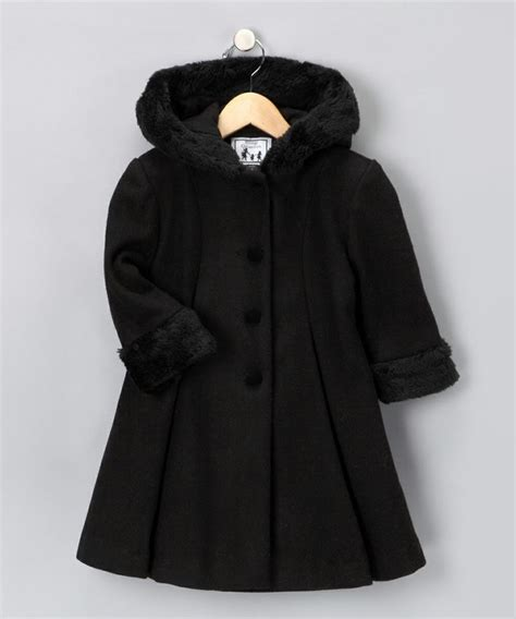 hooded swing coat black hooded wool blend swing coat fashion pinterest