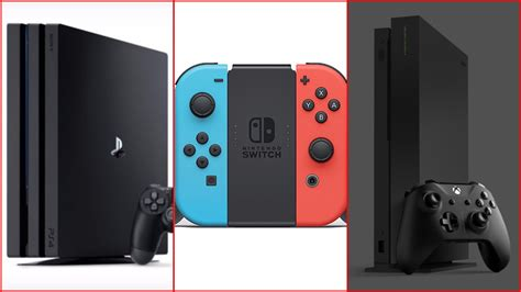 ps4 console vs xbox one ps4 vs nintendo switch vs xbox one which console had the