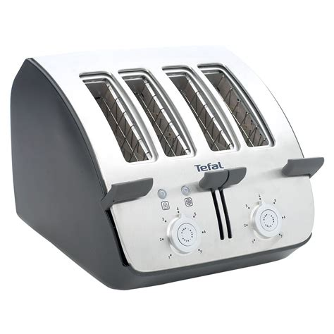 Tefal Toasters 4 Slice tefal tt7441 black and chrome 4 slice toaster review compare prices buy