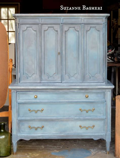 painted armoire aubusson armoire chalk paint mix before and after the