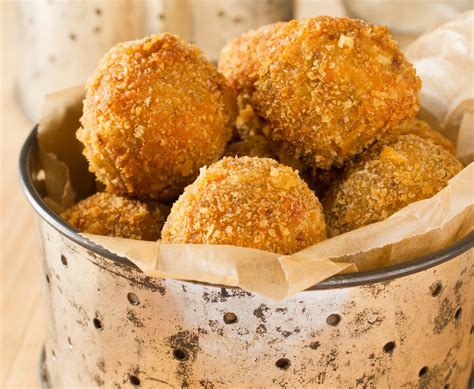 boudin balls with creole mustard dipping sauce emerils com