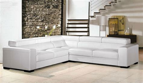 leather sofas white white leather sectional sofa plushemisphere