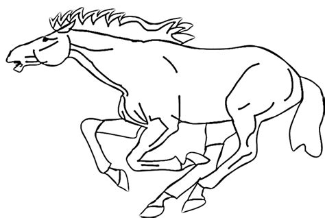 coloring pages of mustang horses galloping mustang coloring page purple kitty