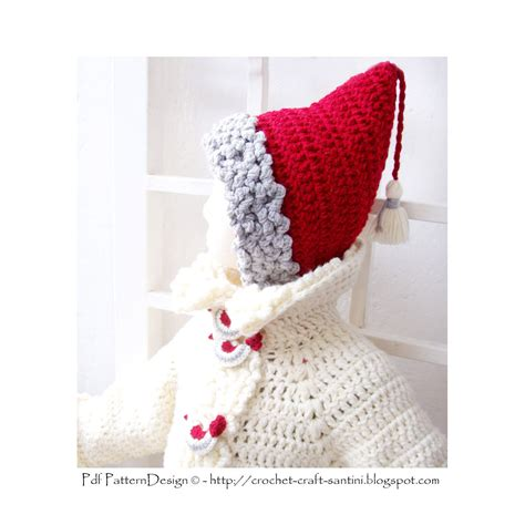 pattern red winter clothes horde red pixie winter hat with quot fur quot and tassels crochet