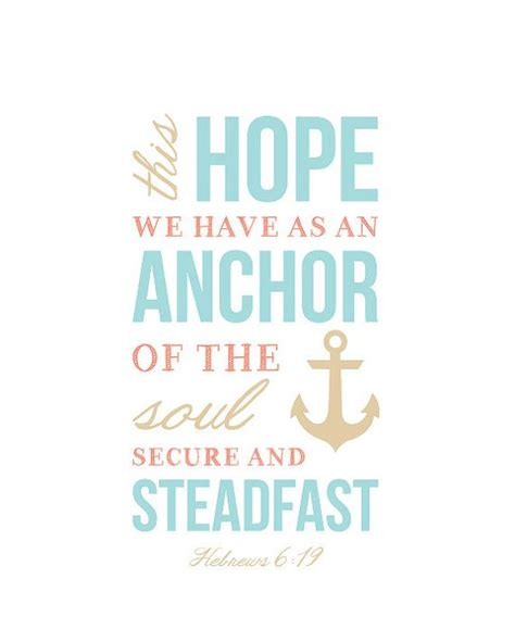 Anchor Print Inspirational Print Quot - bible scripture verse wall art print typography by