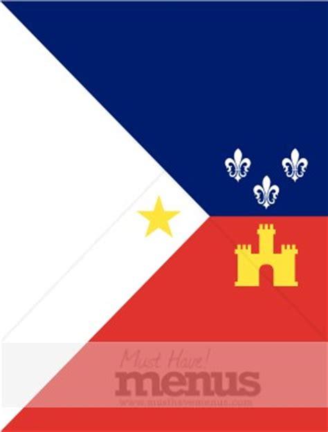 cajun flag cultural menu backgrounds