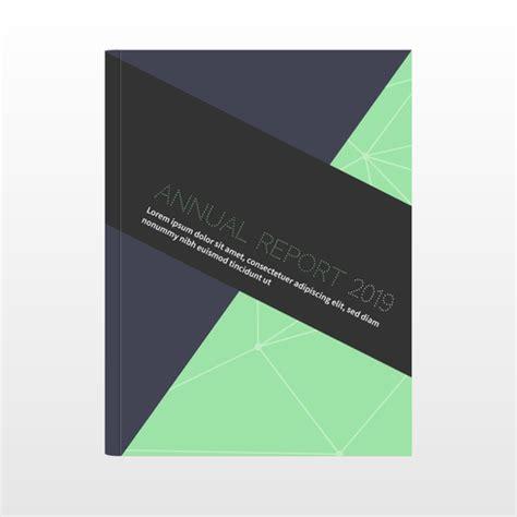 relat 243 rio anual de capa abstrato azul com tri 226 ngulos capa de design de relat 243 rio anual download vetores e