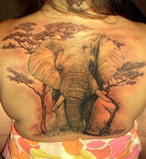 gro 223 artiger elefant tattoo am ganzen r 252 cken tattooimages biz