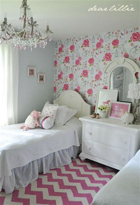 little girl wallpaper for bedroom florals using pattern in kids rooms kidspace interiors