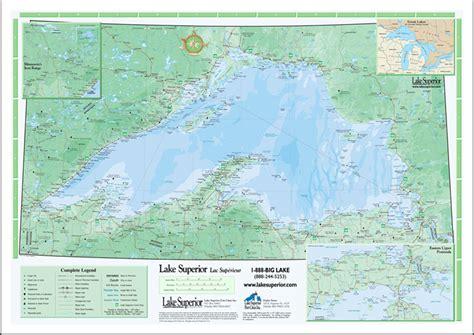 lake superior map maps lake superior circle tour