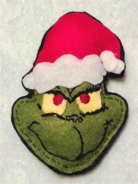 craft activities images on the occasion of christmas the grinch felt ornament occasions and holidays my personal creation grinch craft