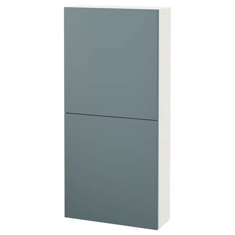 ikea besta wall cabinet best 197 wall cabinet with 2 doors white valviken grey