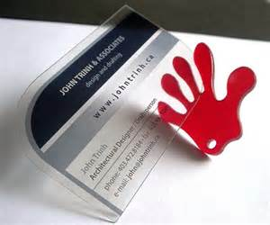 die cut plastic business cards 40 creative transparent business cards