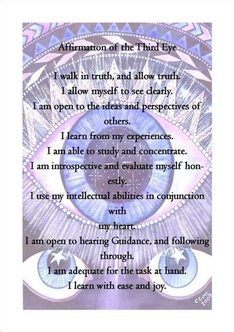 eye chakra affirmations chakra meditation