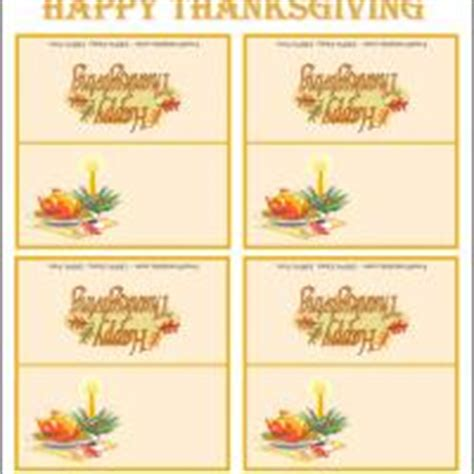 Printable Place Cards Thanksgiving Place Cards Template
