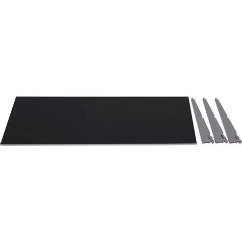 Black Laminate Shelf by Rubbermaid Fasttrack 1 Shelf 48 In X 16 In Laminate