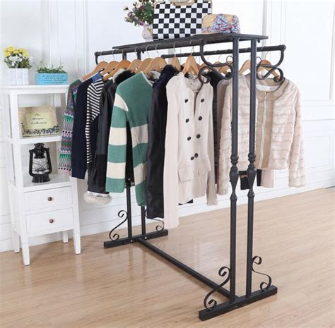 Hanger Baju Organizer Gantung compare prices on wrought iron clothes rack