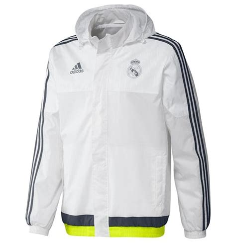 Parka Bola Real Madrid Army 2015 2016 real madrid adidas allweather jacket white for only a 73 37 at merchandisingplaza au