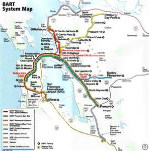 california bart map bart system map san francisco ca usa travel