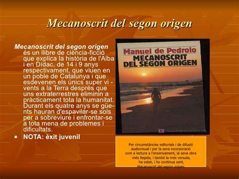 mecanoscrit del segon origen 8415192878 manuel de pedrolo catala per classe 1 1