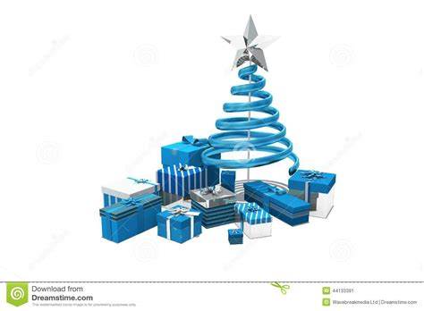 blue and silver christmas gifts stock illustration image